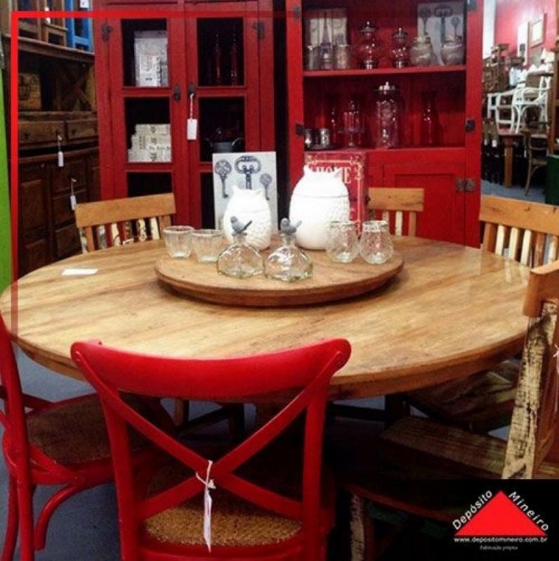 Empresa de Mesa de Madeira Rústica Redonda Jardim Paulista - Mesa de Jantar Madeira Rústica