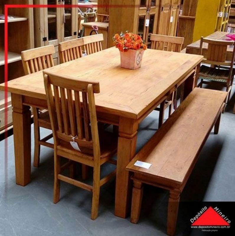 Mesas Redonda de Madeira Rústicas Pinheiros - Mesa de Jantar de Madeira Rústica