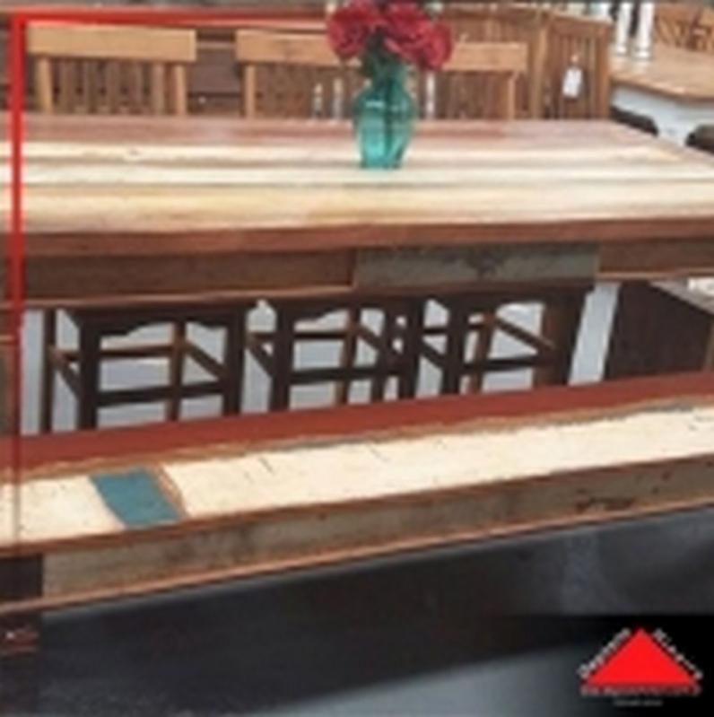 Onde Encontro Mesa de Jantar Rústica de Madeira Jardim Japão - Mesa de Jantar de Madeira Rústica