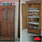 armário de cozinha de madeira rústica Itaquera