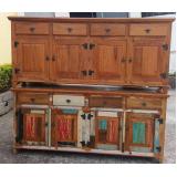 buffet madeira maciça rústica valores Biritiba Mirim