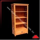 estante de madeira para livros orçamento Caieras