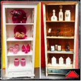 estante de madeira para livros Vila Romana