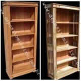 estante de madeira rústica Sumaré