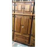 guarda roupa rústico madeira maciça preço Moema