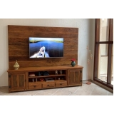 madeira madeira rack com painel orçar Vila Romana