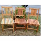 mesa de madeira de demolição redonda rústica Pacaembu