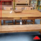 mesa de madeira rústica com bancos preço Parque Mandaqui