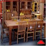mesa de jantar rústica de madeira