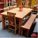 mesa de madeira rústica redonda preço Santa Cecília