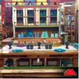 mesa redonda de madeira rústica preço Jockey Club