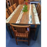 mesa rústica de madeira preço Jardins