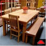 mesas redonda de madeira rústicas Anália Franco