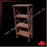 onde compro estante de madeira para livros Poá
