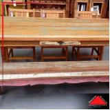 onde encontro mesa de jantar de madeira rústica Ponte Rasa
