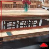 onde encontro mesa de jantar rústica de madeira Campo Grande