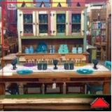 onde encontro mesa de madeira de demolição redonda rústica Vila Endres