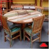 onde encontro mesa de madeira maciça rústica Perus