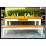 onde encontro mesa de madeira rústica redonda Saúde