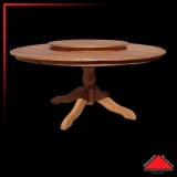 onde encontro mesa de madeira rústica redonda Vila Gustavo