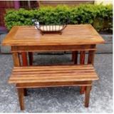 onde encontro mesa rústica de madeira com bancos Santa Efigênia