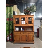 preço de armário de cozinha de madeira rústica Perus