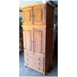valor de guarda roupa de casal de madeira rústica Diadema