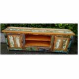 valor de madeira madeira rack com painel Bela Vista