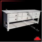 valor de rack de madeira rústica Aeroporto